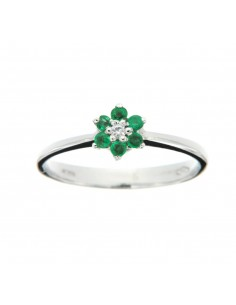 Anello Fiore  di Smeraldi...