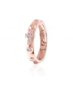 Rosario UnoAerre in argento rosa