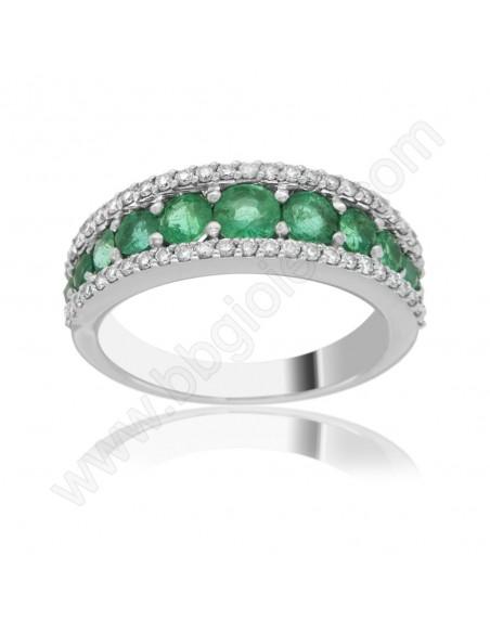 Veretta a Giro Di Smeraldi e Diamanti